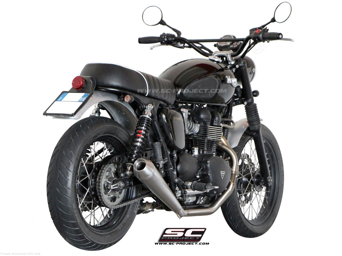 conic full system exhaust by sc project triumph bonneville t100 2016 t09 c37a. Black Bedroom Furniture Sets. Home Design Ideas