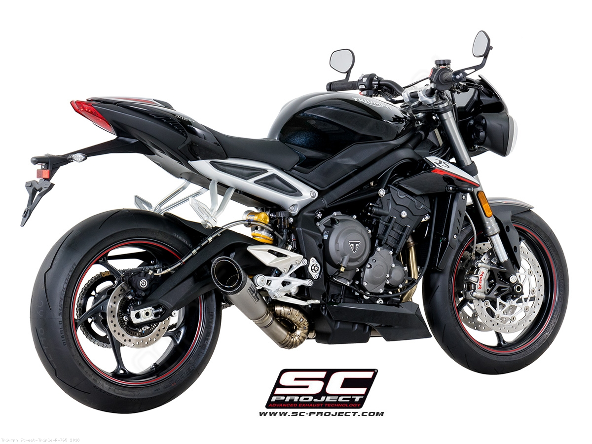 s1 exhaust by sc project triumph street triple r 765 2018 t18 lt41t. Black Bedroom Furniture Sets. Home Design Ideas