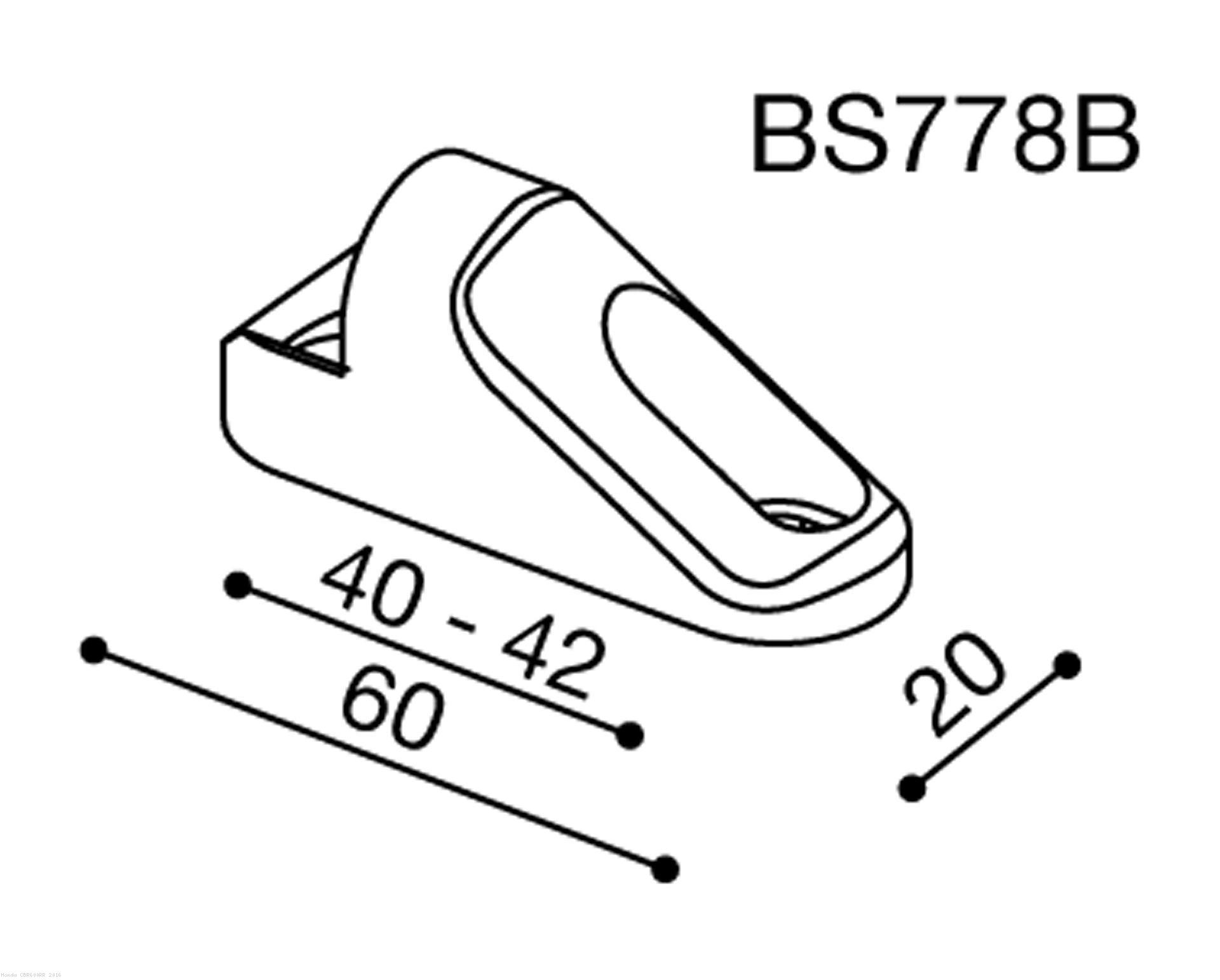 Rizoma Mirror Adapter Bs778b Honda Cbr600rr 2016 Turn Signal Wiring Diagram