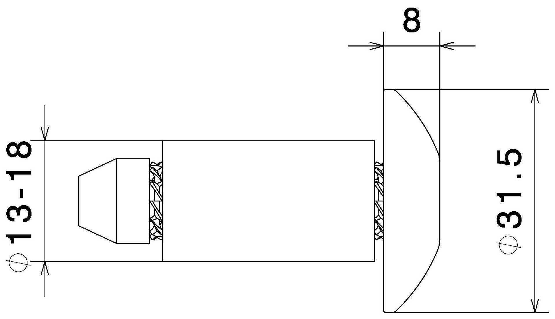 Rizoma Universal Flush Mount Bar Ends/Handlebar Caps