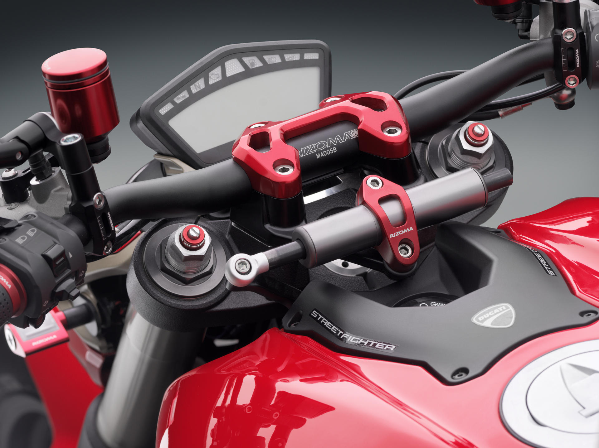 Rizoma Mirror Adapter Clamp Brembo