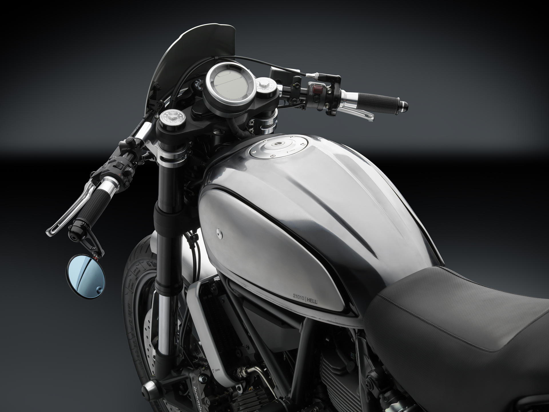 Rizoma Ducati Scrambler Headlight Fairing: CF010