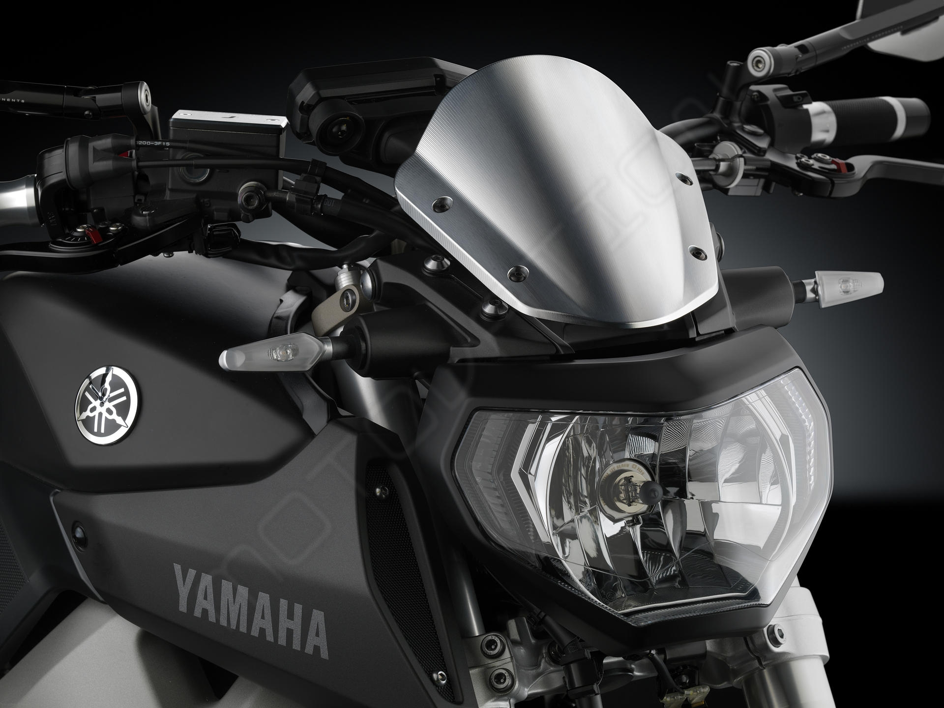 aluminum headlight fairing by rizoma yamaha mt 07 2016