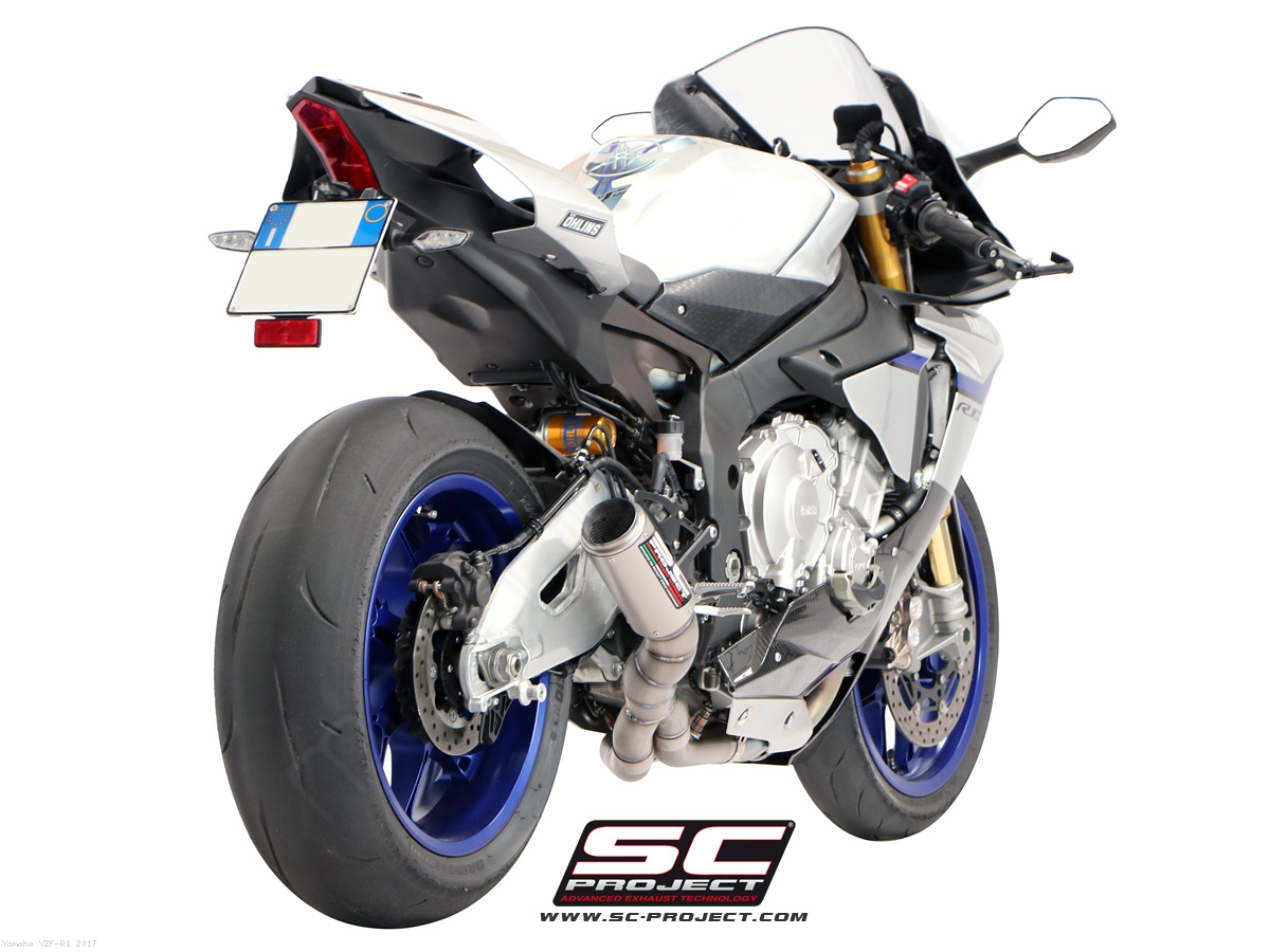 Cr t de cat low position exhaust by sc project yamaha for Yamaha yzf r1 2017