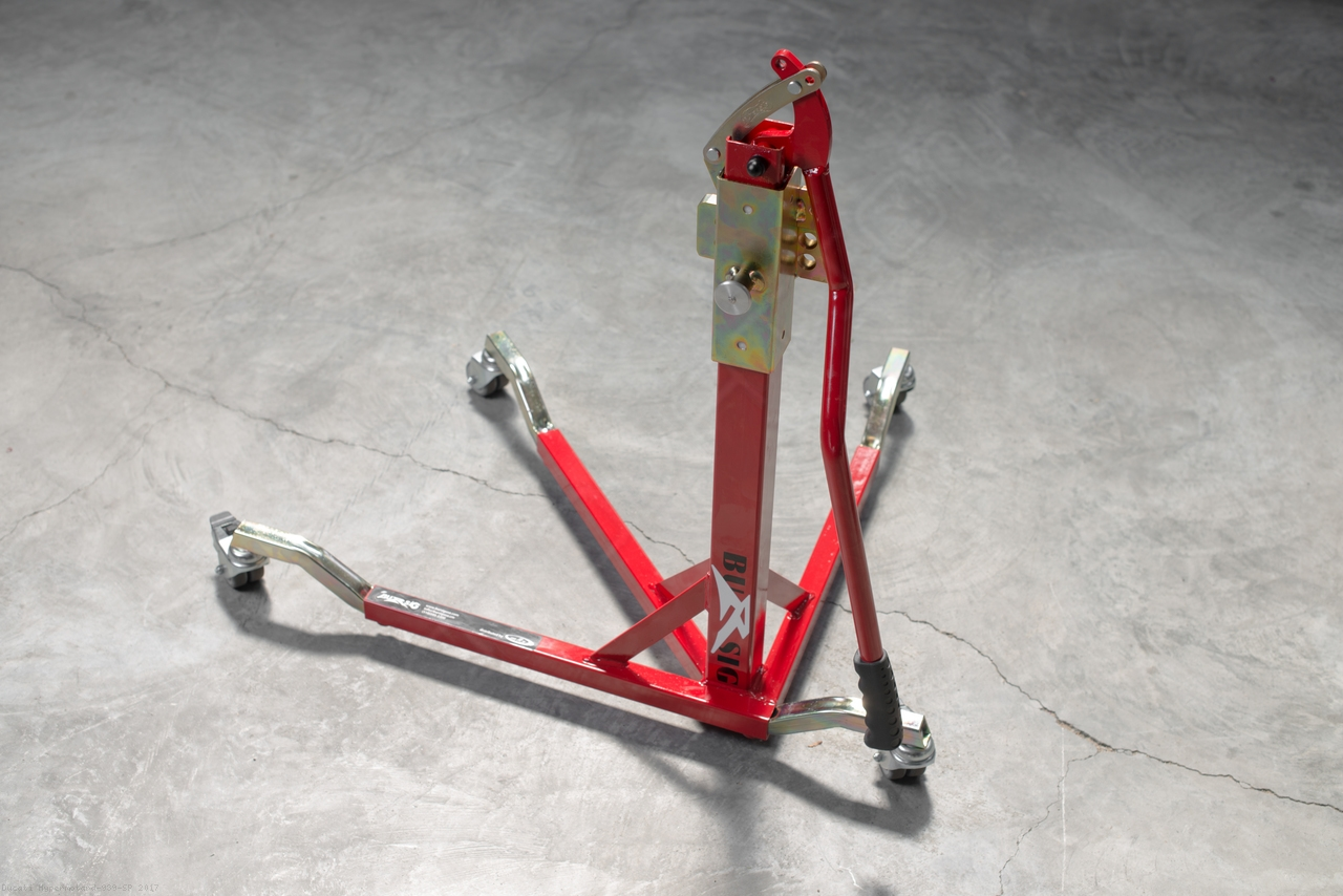 Bursig Racing Stand With Wheels And Bike Adapter Ducati