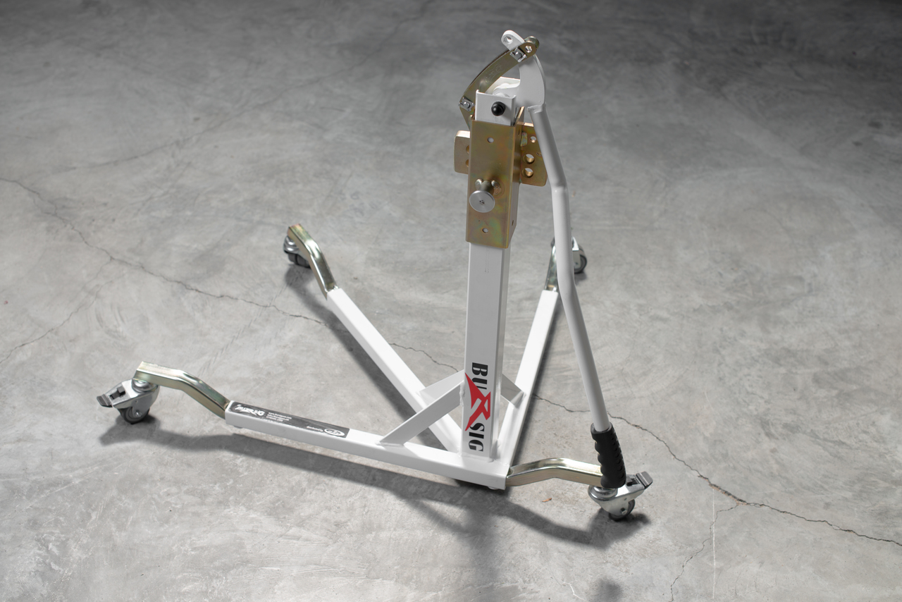 Deluxe Bursig Racing Stand With Wheels And Bike Specific