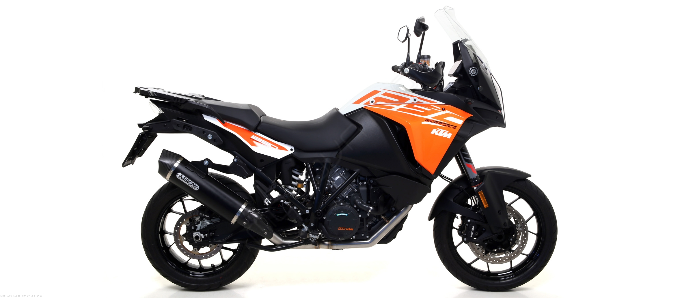 maxi race tech exhaust by arrow ktm 1290 super adventure 2017 71809. Black Bedroom Furniture Sets. Home Design Ideas