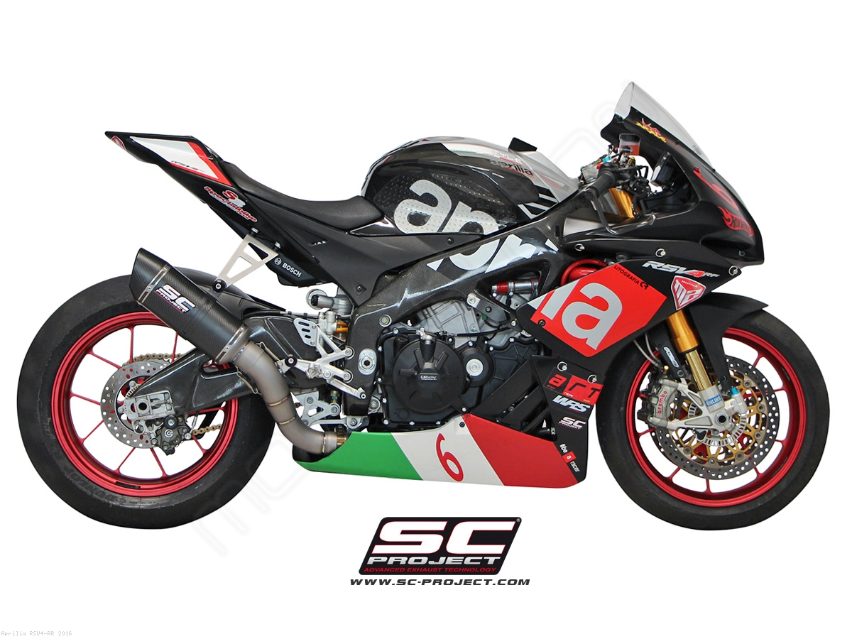 race oval exhaust by sc project aprilia rsv4 rr 2016. Black Bedroom Furniture Sets. Home Design Ideas