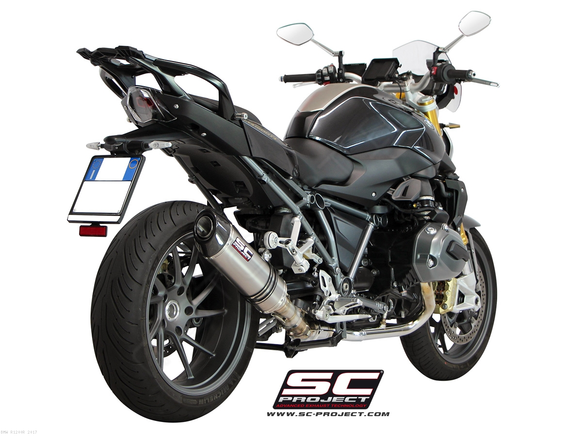 oval exhaust by sc project bmw r1200r 2017 b22 01. Black Bedroom Furniture Sets. Home Design Ideas