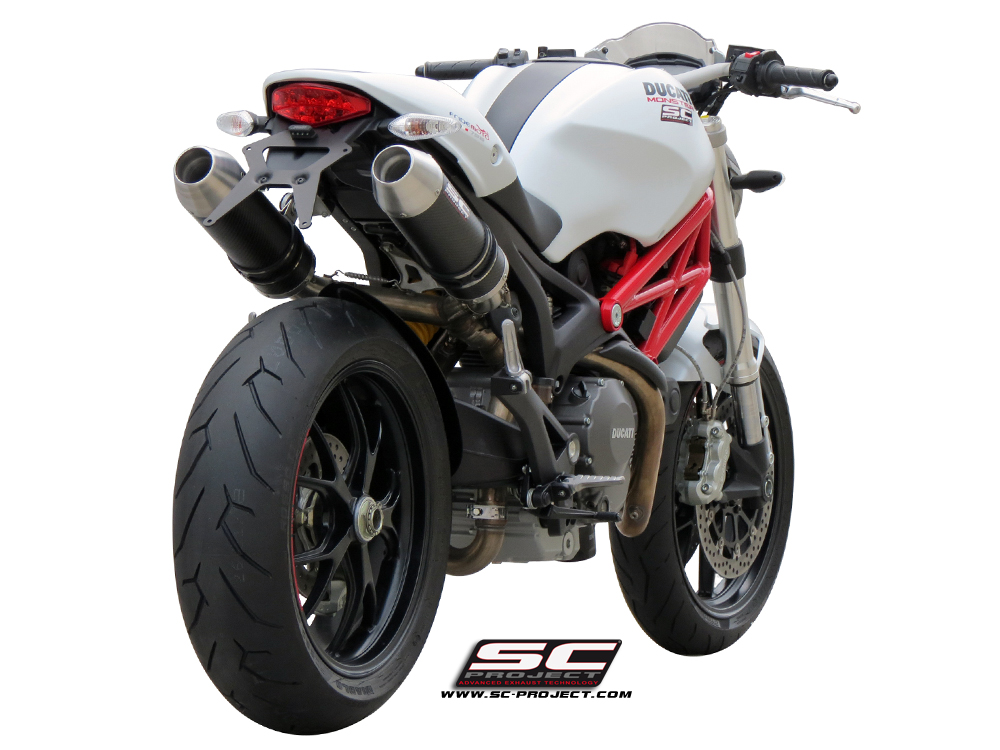 Ducati Monster 696 / 796 / 1100 Racer Exhaust by SC-Project