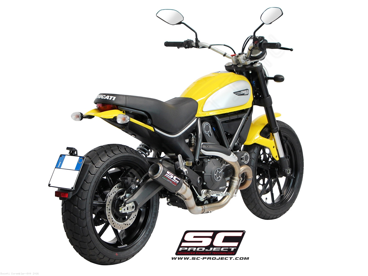 cr t exhaust by sc project ducati scrambler 800 2016 d16 38. Black Bedroom Furniture Sets. Home Design Ideas