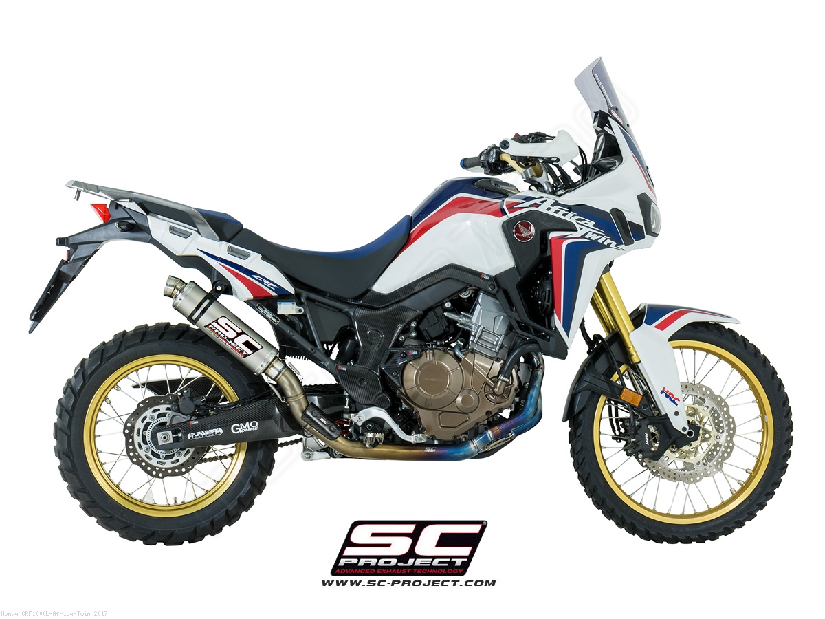 gp exhaust by sc project honda crf1000l africa twin. Black Bedroom Furniture Sets. Home Design Ideas