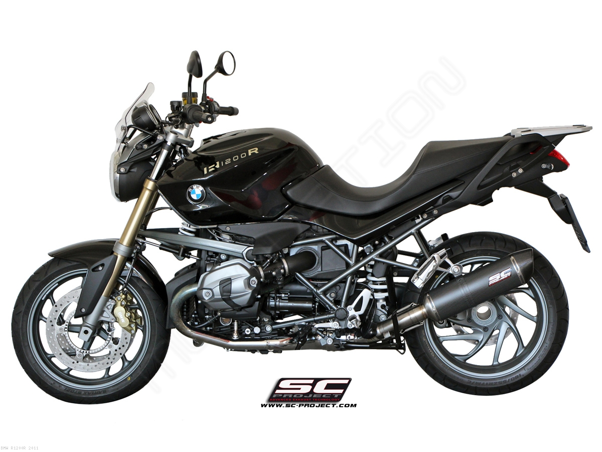 Oval Matte Carbon Exhaust by SC-Project BMW / R1200R / 2011 (B06-02C)