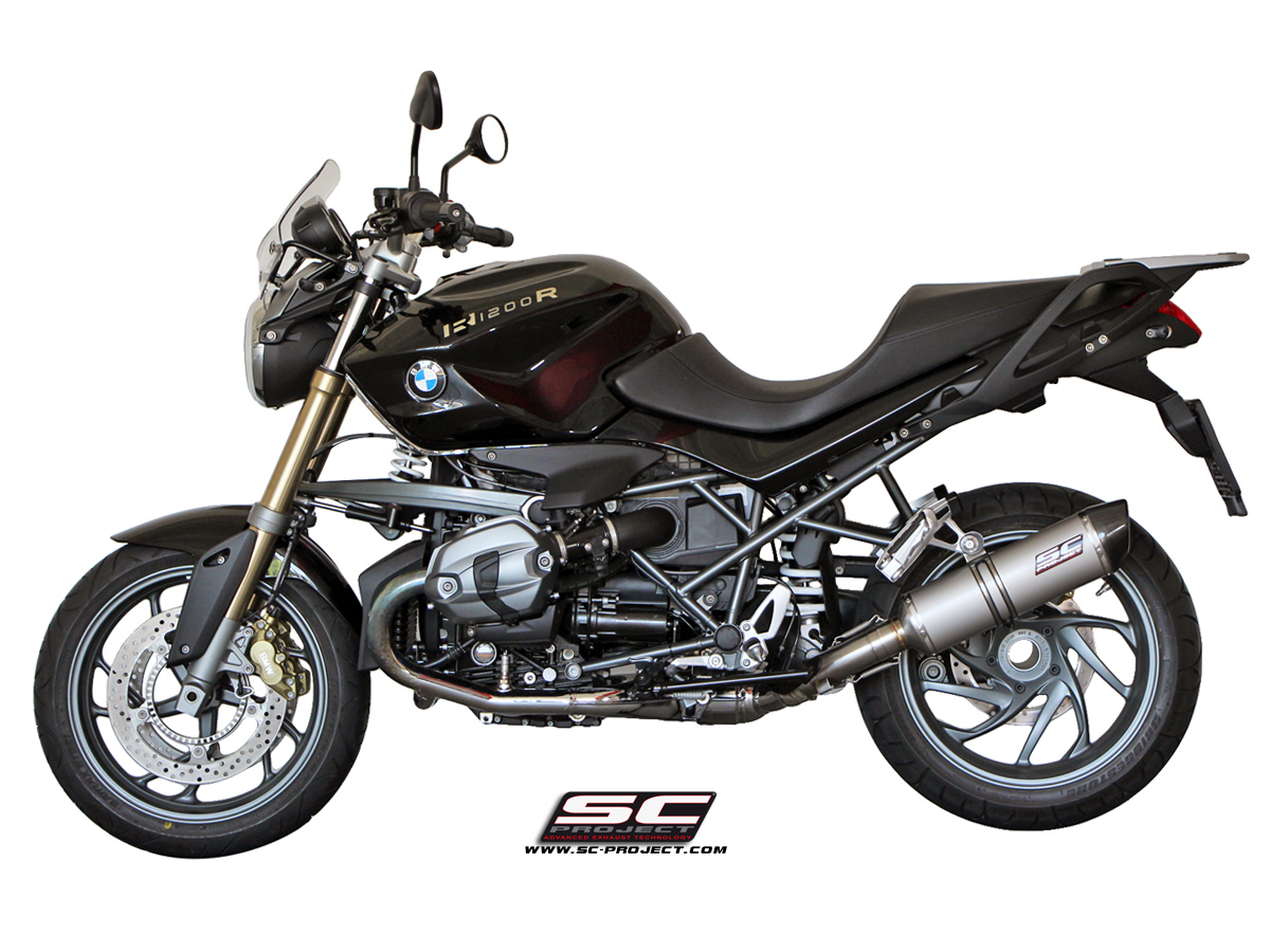 bmw r1200r 2011 2014 oval exhaust by sc project. Black Bedroom Furniture Sets. Home Design Ideas