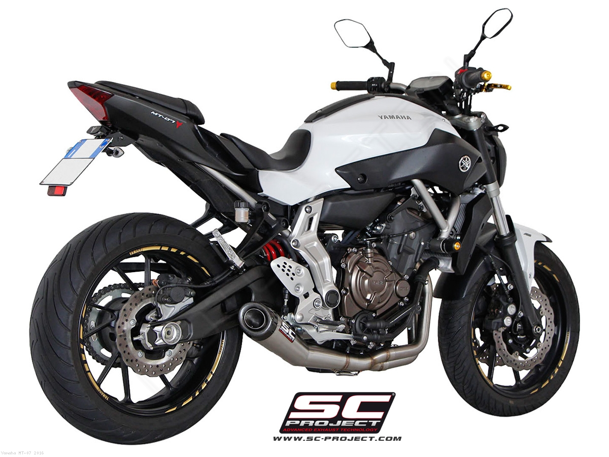 conic full system exhaust by sc project yamaha mt 07 2016 y14 c21a. Black Bedroom Furniture Sets. Home Design Ideas
