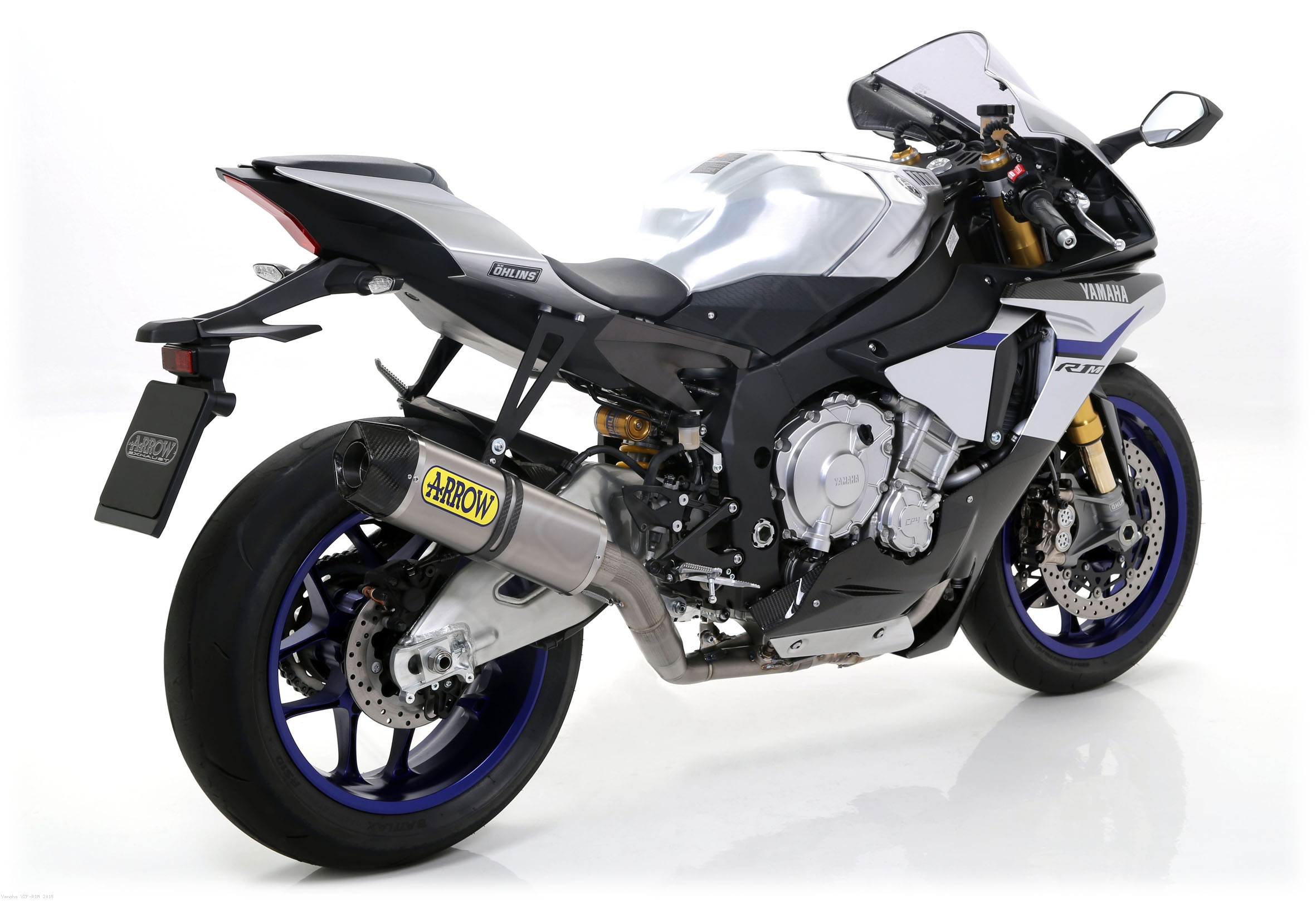 competition full indy race exhaust system by arrow yamaha yzf