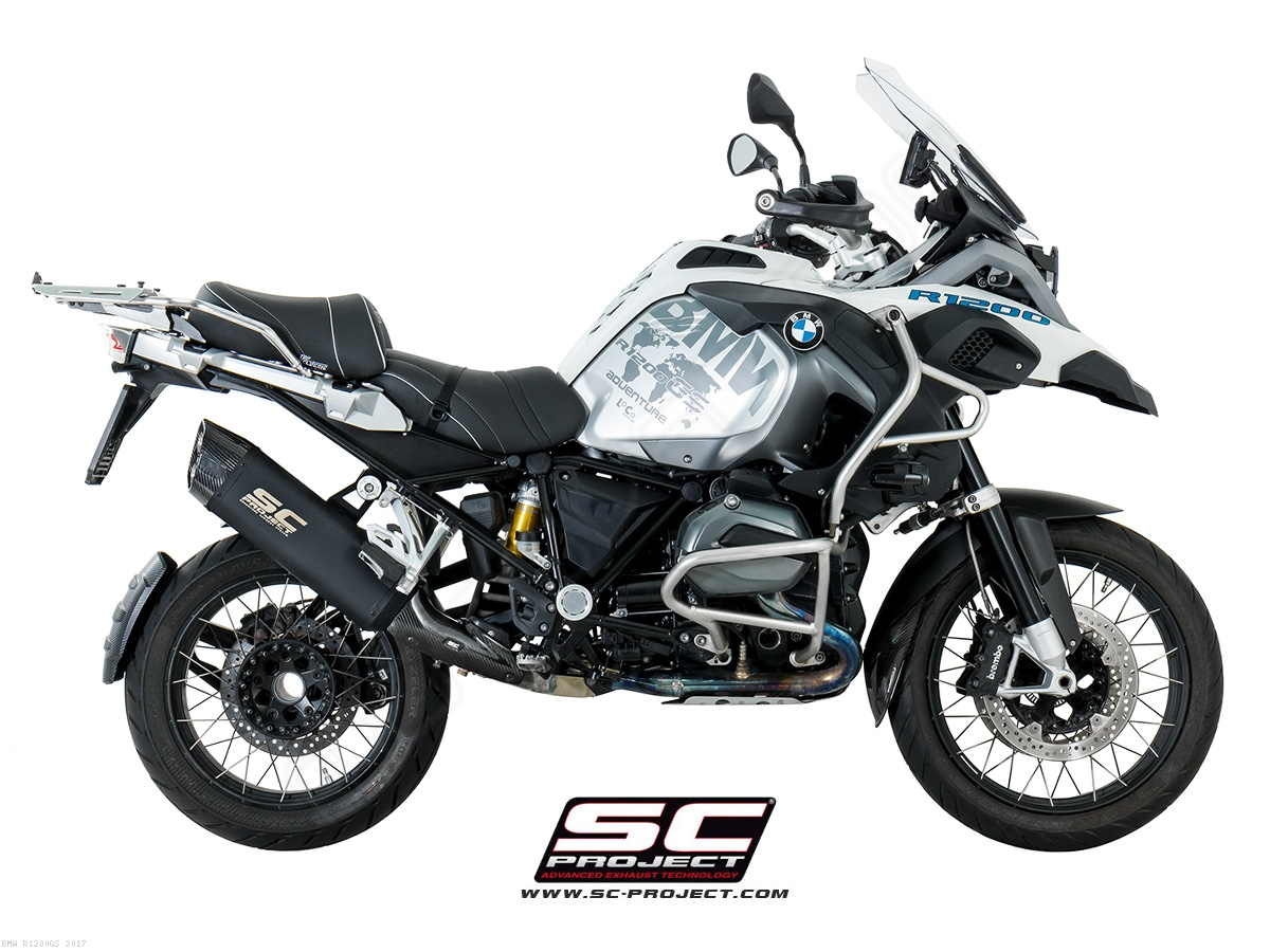 black titanium adventure exhaust by sc project bmw r1200gs 2017 b26 86mb. Black Bedroom Furniture Sets. Home Design Ideas