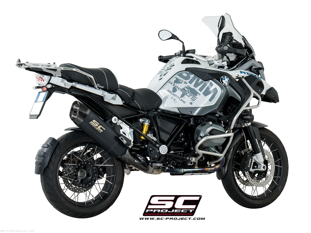 Black Titanium Adventure Exhaust By Sc Project Bmw R1200gs