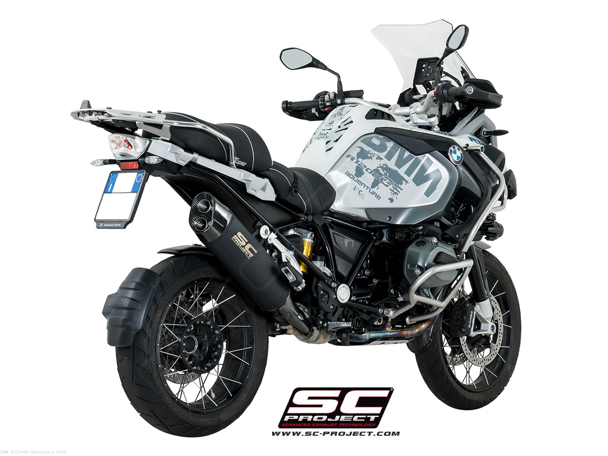 black titanium adventure exhaust by sc project bmw r1200gs adventure 2018 b26 86mb. Black Bedroom Furniture Sets. Home Design Ideas