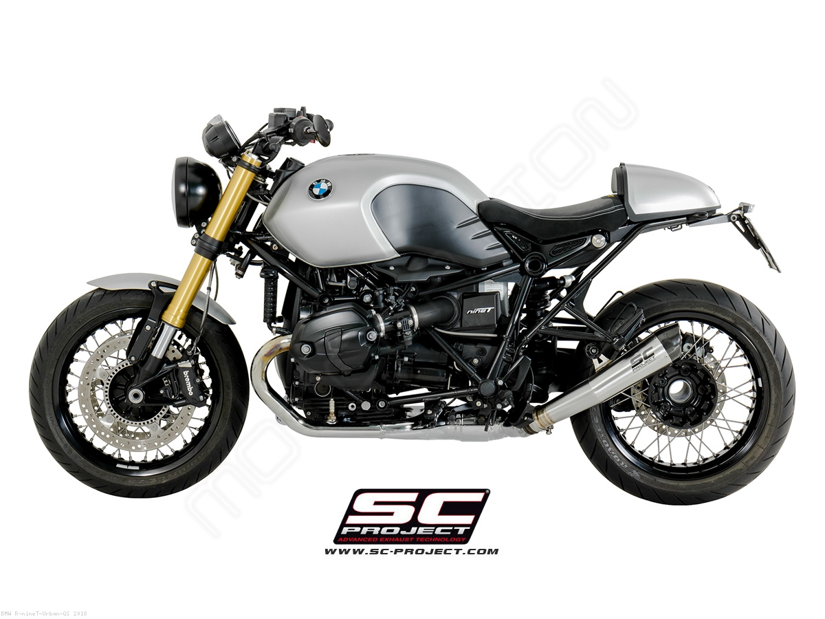 angled conic exhaust by sc project bmw r ninet urban gs. Black Bedroom Furniture Sets. Home Design Ideas