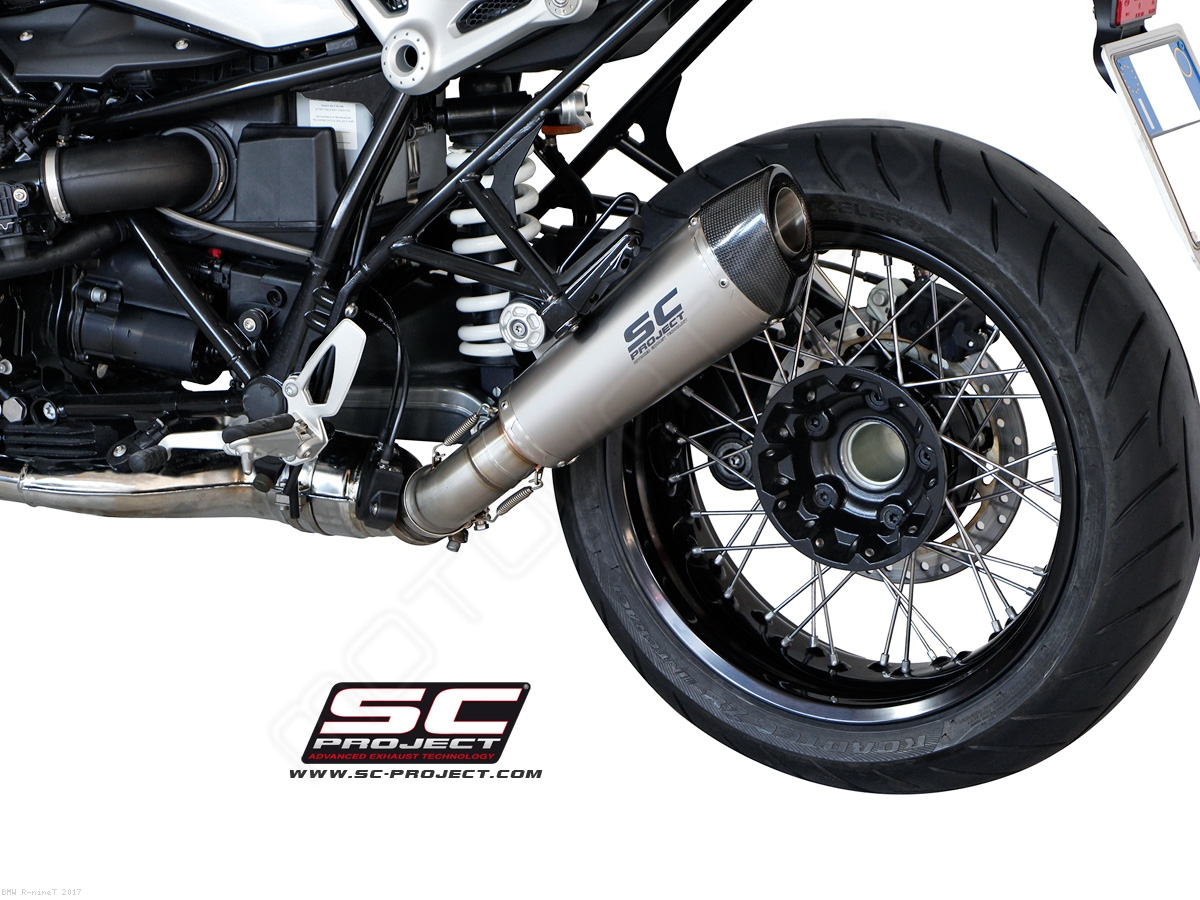 conic exhaust by sc project bmw r ninet 2017 b18 34t. Black Bedroom Furniture Sets. Home Design Ideas