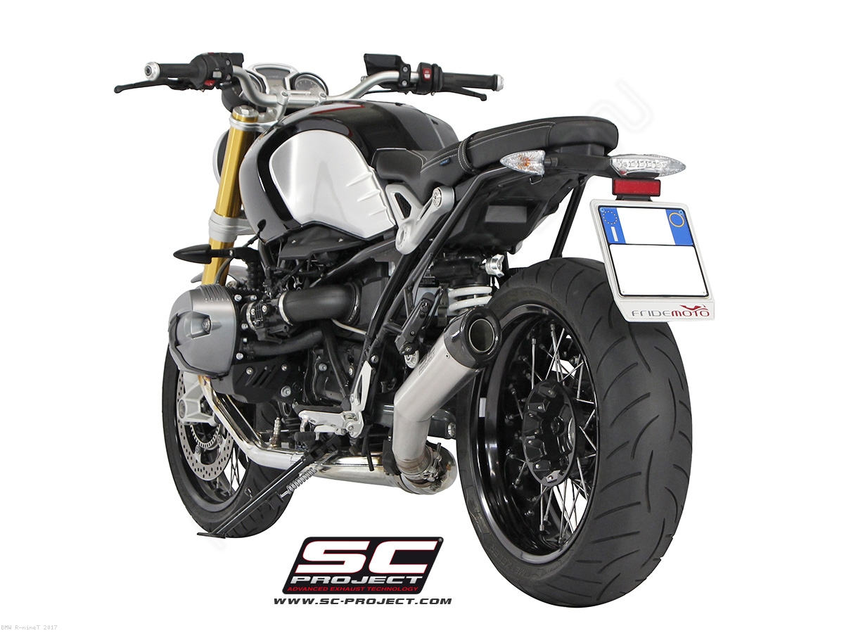 conic exhaust by sc project bmw r ninet 2017 b18 21a. Black Bedroom Furniture Sets. Home Design Ideas