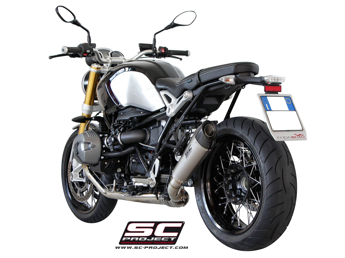 bmw r ninet titanium conical slip on exhaust by sc project. Black Bedroom Furniture Sets. Home Design Ideas