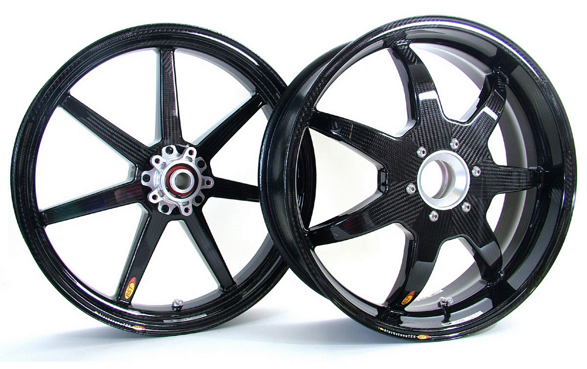 7 Spoke Carbon Fiber Wheel Set By Bst 165525 165408