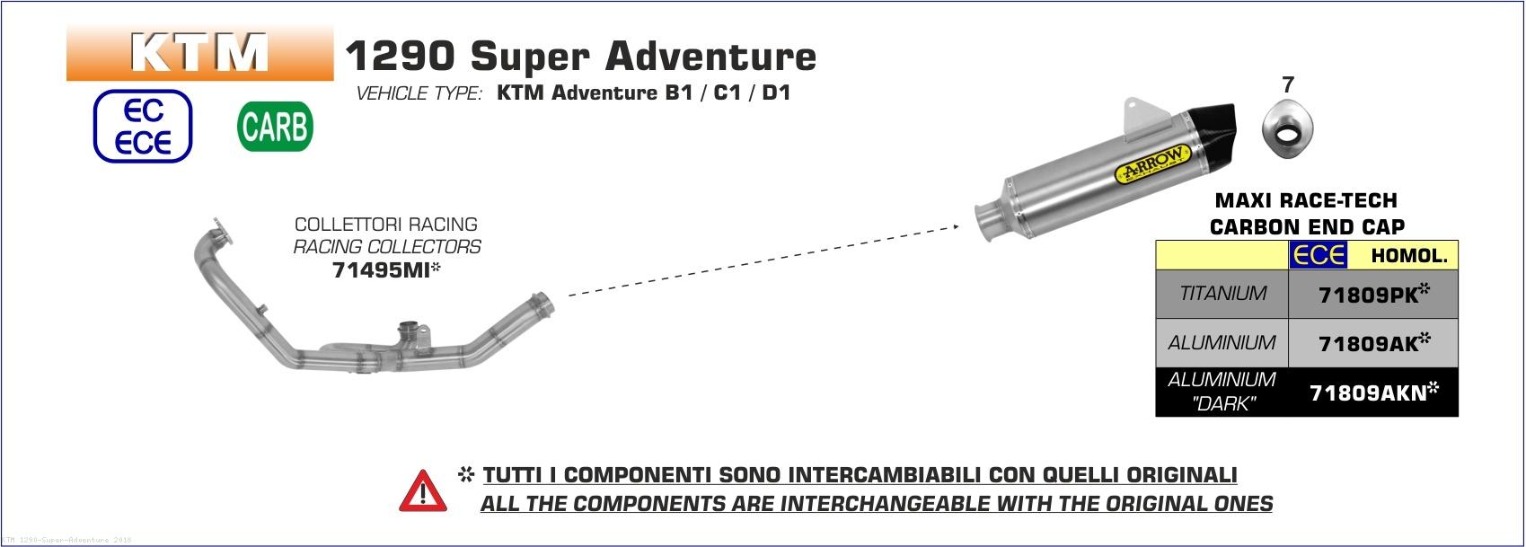 2018 ktm adventure 1290. beautiful ktm maxi racetech exhaust by arrow ktm  1290 super adventure 2018 and ktm adventure a