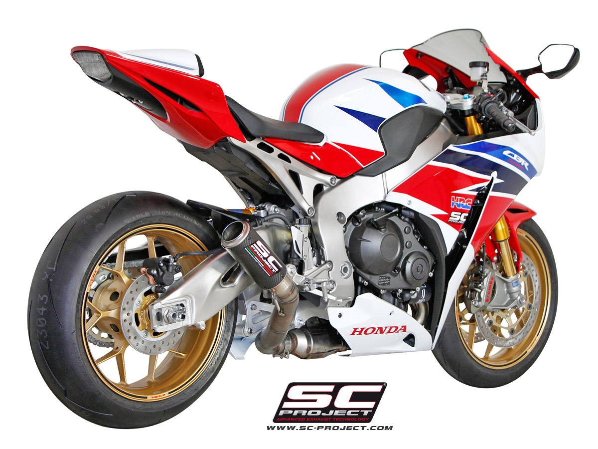 honda cbr1000rr sp 2014 series cr t slip on exhaust by sc project. Black Bedroom Furniture Sets. Home Design Ideas