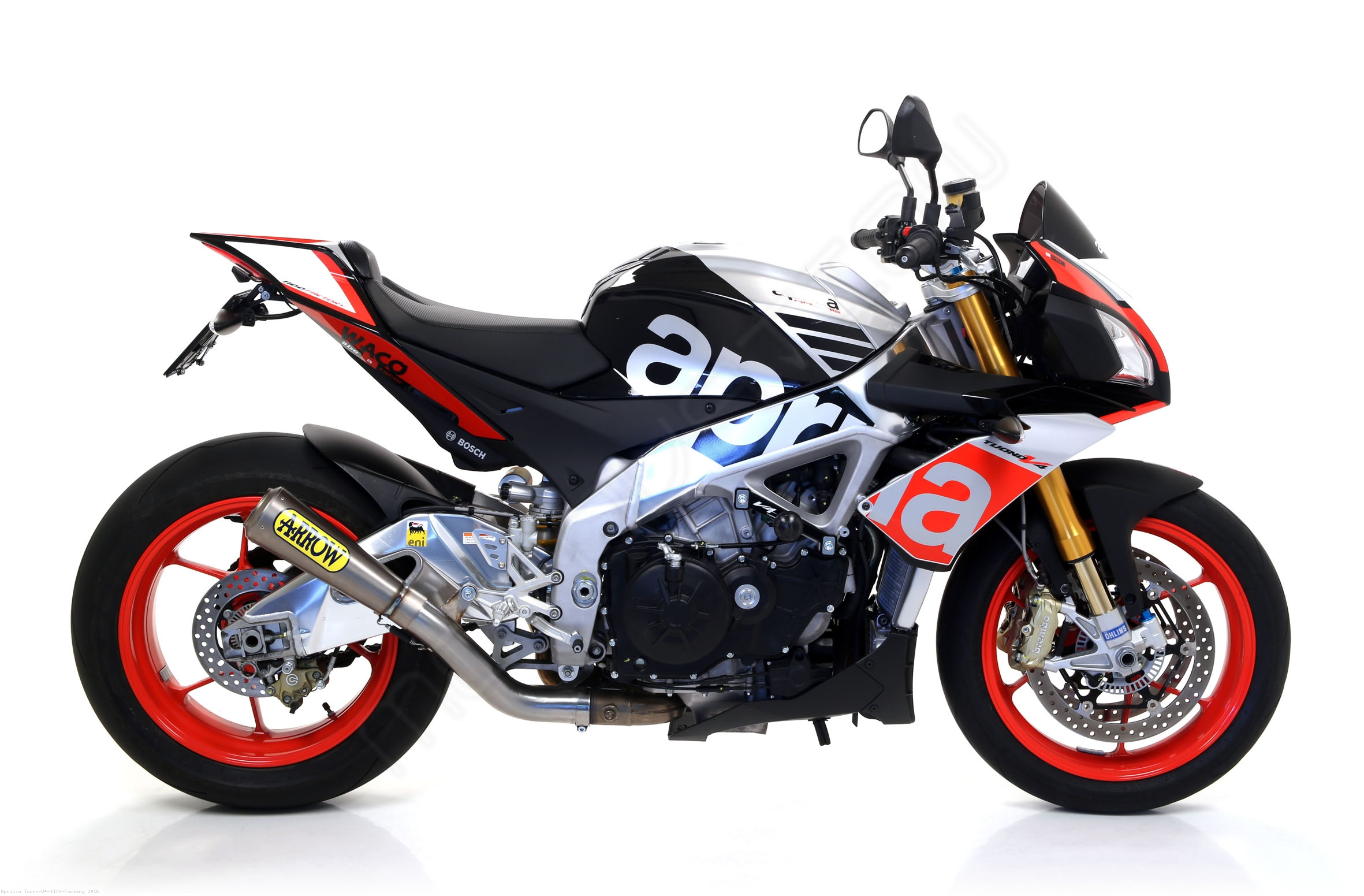 pro race exhaust by arrow aprilia tuono v4 1100 factory. Black Bedroom Furniture Sets. Home Design Ideas