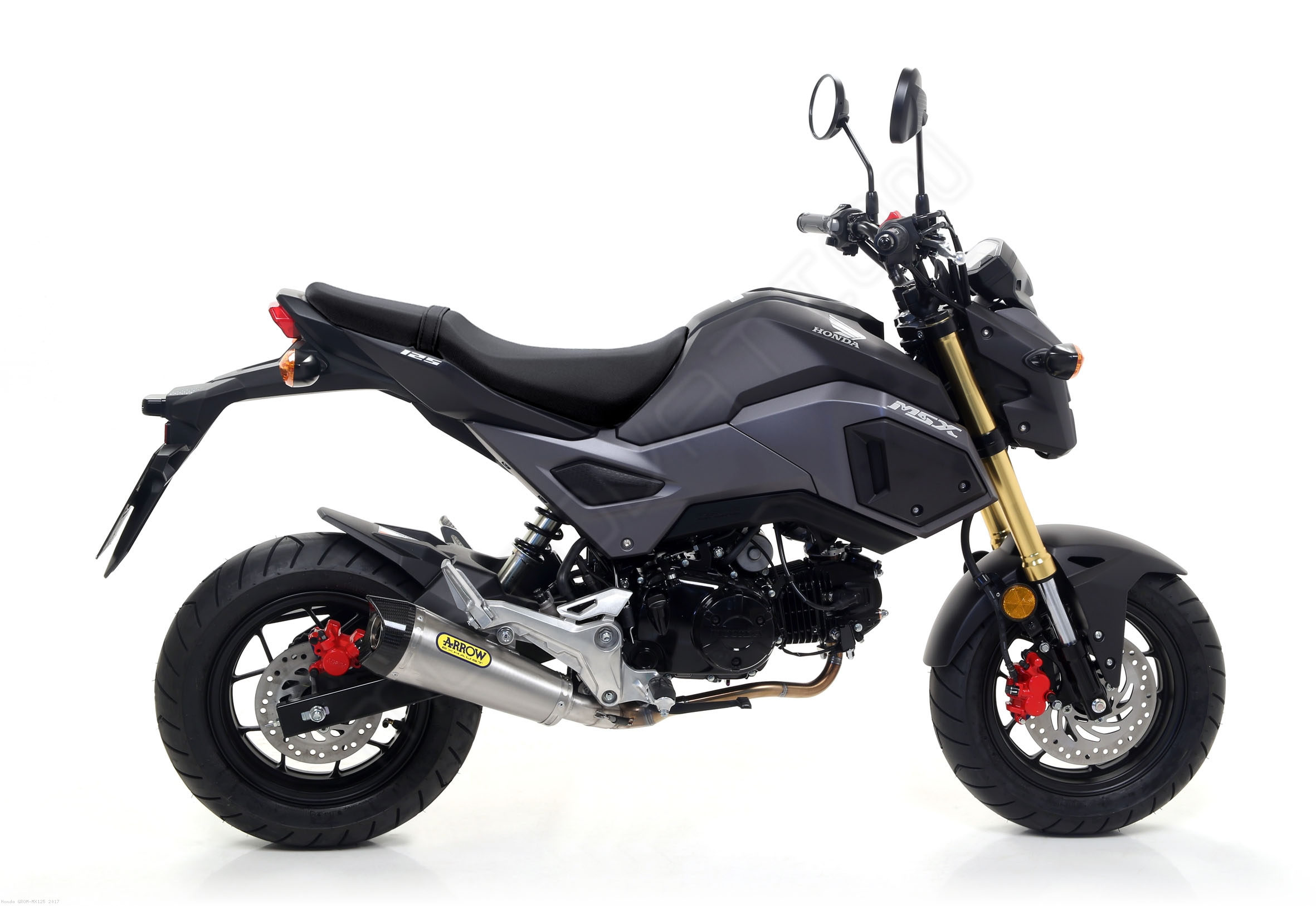 x kone exhaust by arrow honda grom mx125 2017 52507. Black Bedroom Furniture Sets. Home Design Ideas