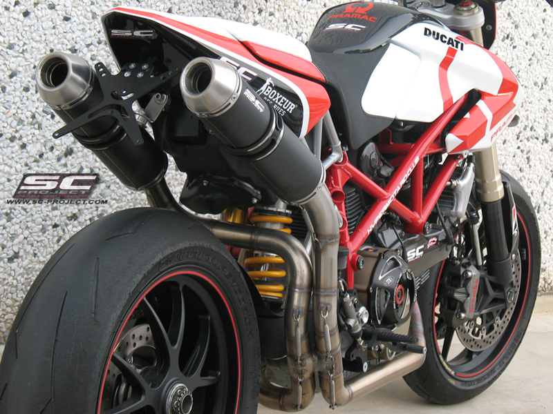 Ducati Hypermotard 1100 Evo Sp Gp Evo 2 2 Full System Exhaust By
