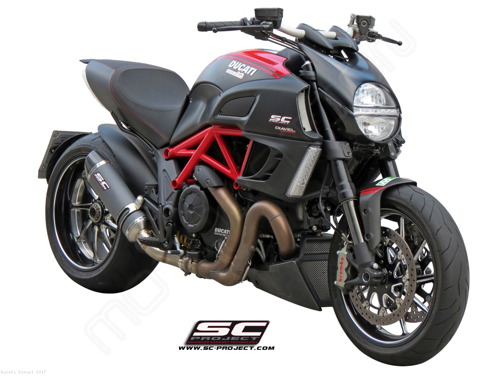 Oval Exhaust by SC-Project Ducati / Diavel / 2017 (D08-01)