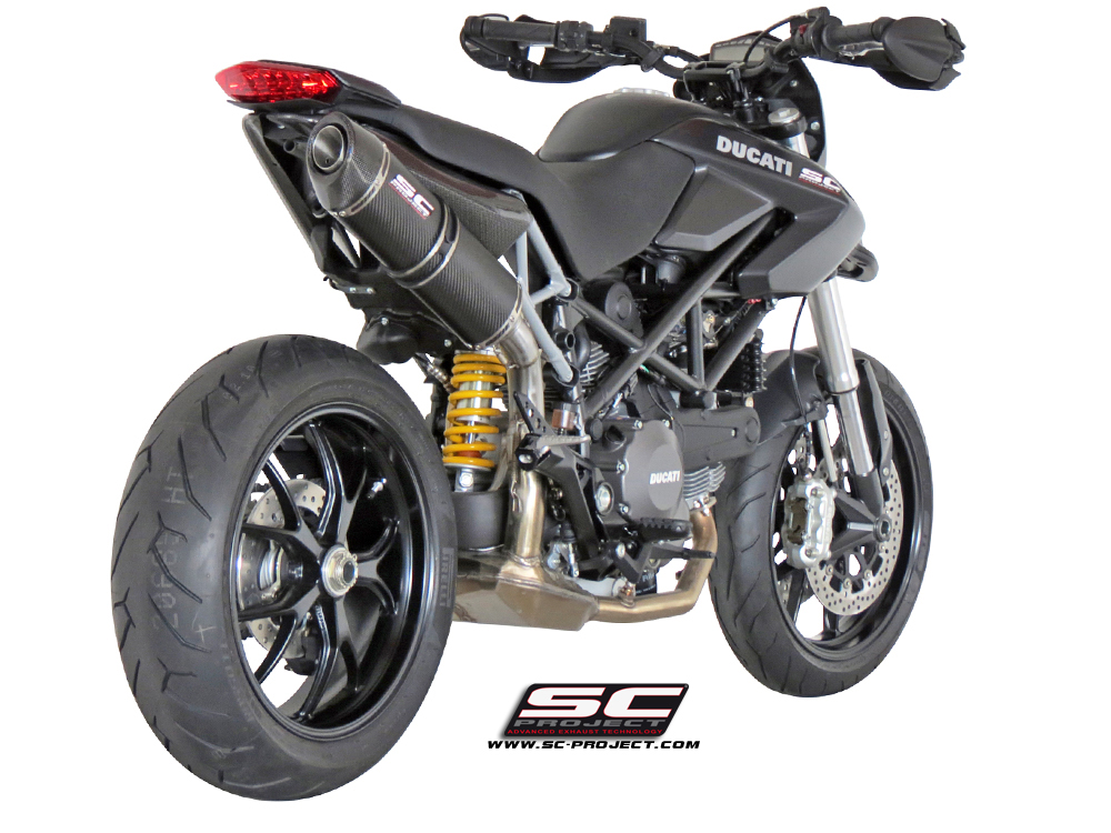 ducati hypermotard 796 2 1 oval exhaust by sc project. Black Bedroom Furniture Sets. Home Design Ideas