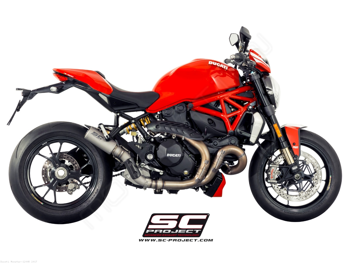 CR-T Exhaust by SC-Project Ducati / Monster 1200R / 2017 ...