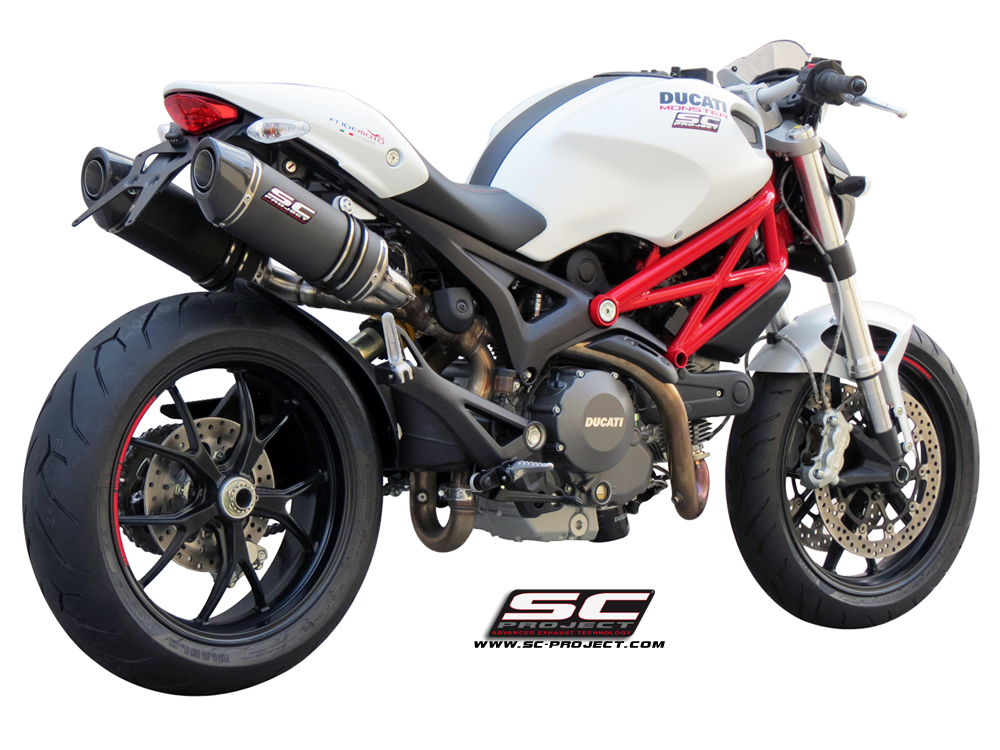 ducati monster 696 796 1100 oval exhaust by sc project. Black Bedroom Furniture Sets. Home Design Ideas