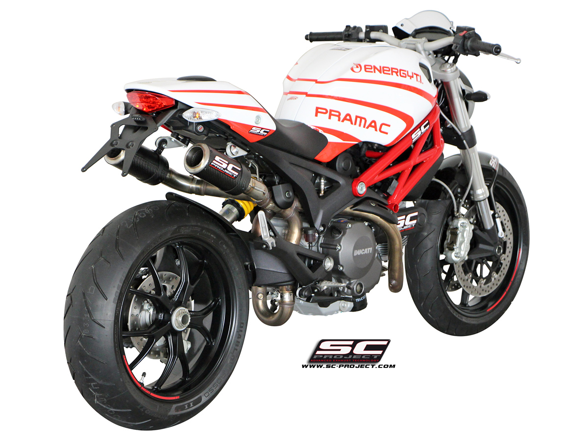 Ducati Monster 696 / 796 / 1100 Slip-on CR-T Exhaust by SC ...