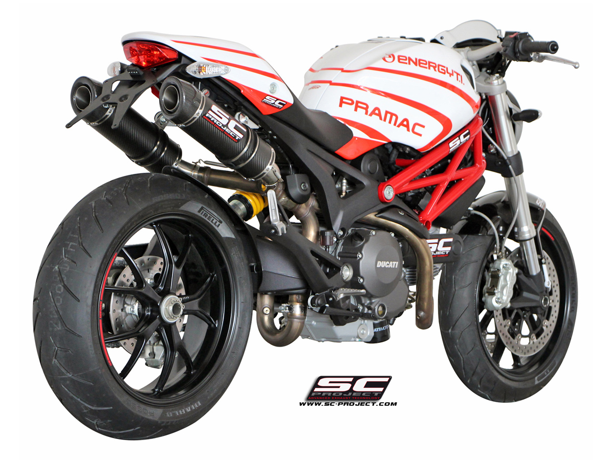 Ducati Monster 696 796 1100 Gp Tech Exhaust By Sc Project