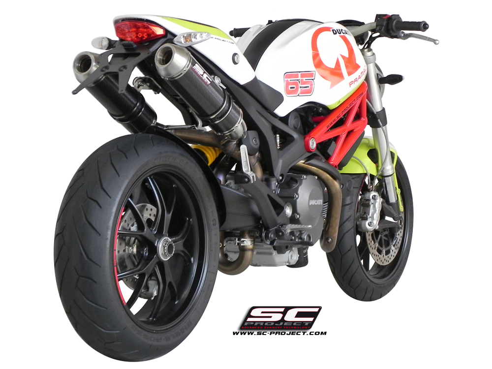 ducati monster 696 796 1100 gp evo exhaust by sc project. Black Bedroom Furniture Sets. Home Design Ideas