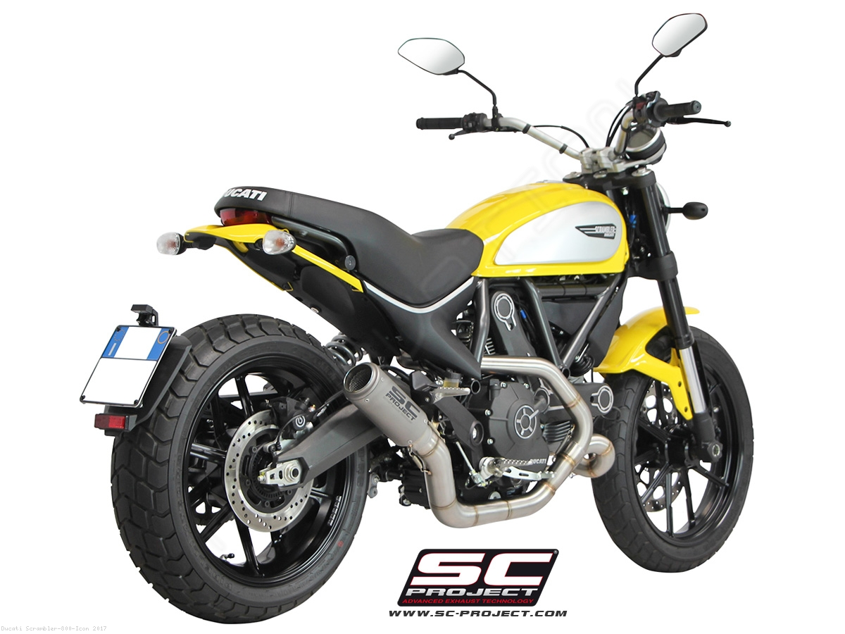 Cr T Exhaust By Sc Project Ducati Scrambler 800 Icon 2017 D16 Cl38