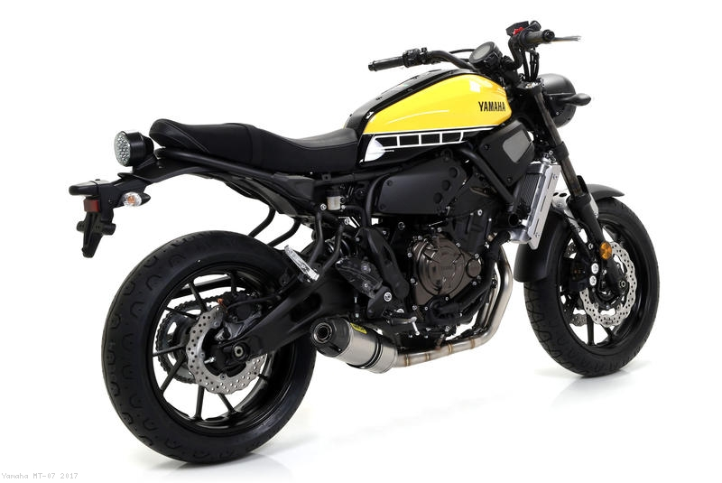 jet race exhaust system by arrow yamaha mt 07 2017 71843jrn 71642mi. Black Bedroom Furniture Sets. Home Design Ideas