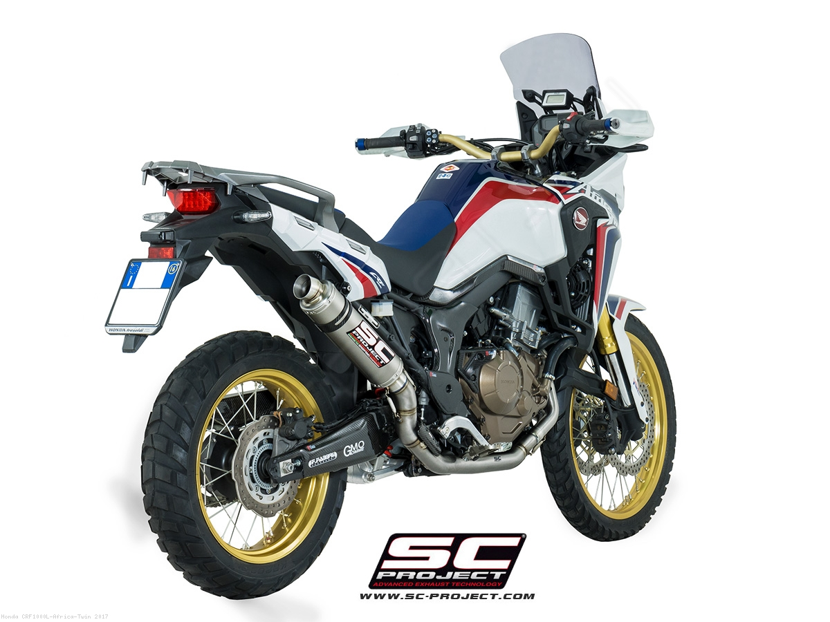 gp exhaust by sc project honda crf1000l africa twin 2017 h16 tc06t. Black Bedroom Furniture Sets. Home Design Ideas