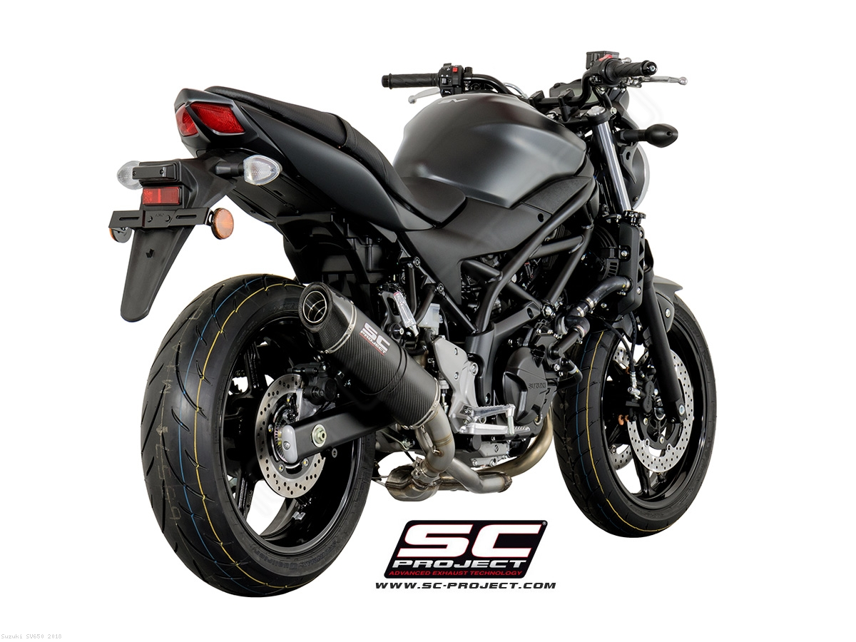 oval exhaust by sc project suzuki sv650 2018 s14 01. Black Bedroom Furniture Sets. Home Design Ideas