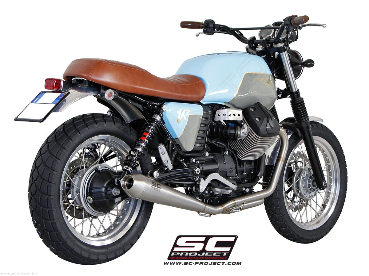 conic full system exhaust by sc project moto guzzi v7. Black Bedroom Furniture Sets. Home Design Ideas