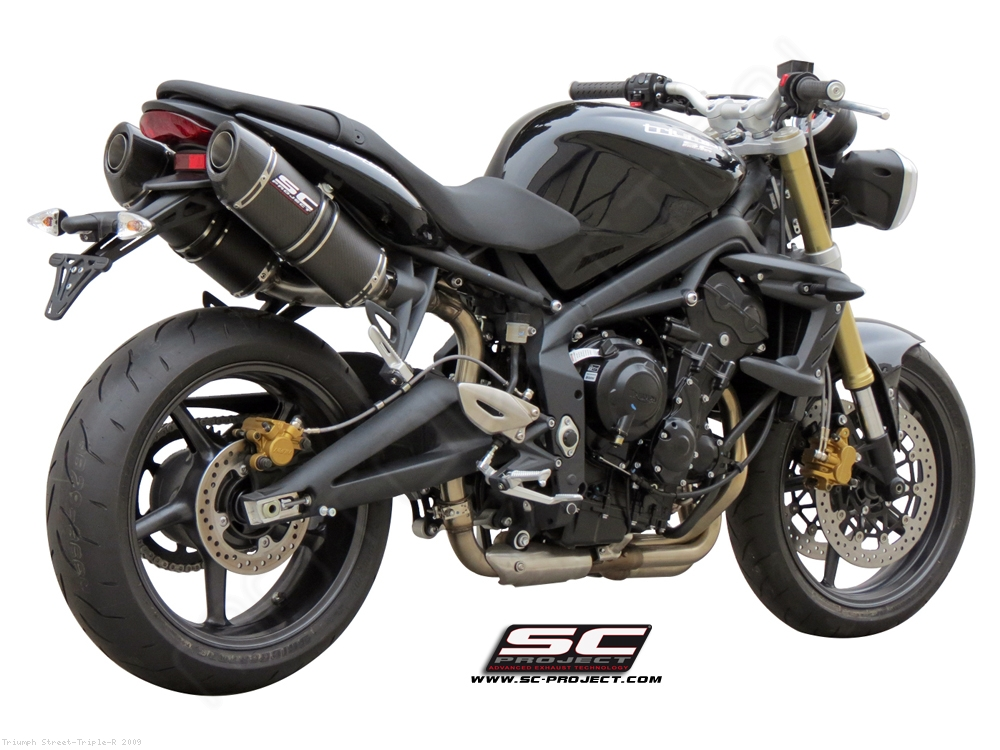 Oval High Mount Exhaust By Sc Project Triumph Street Triple R