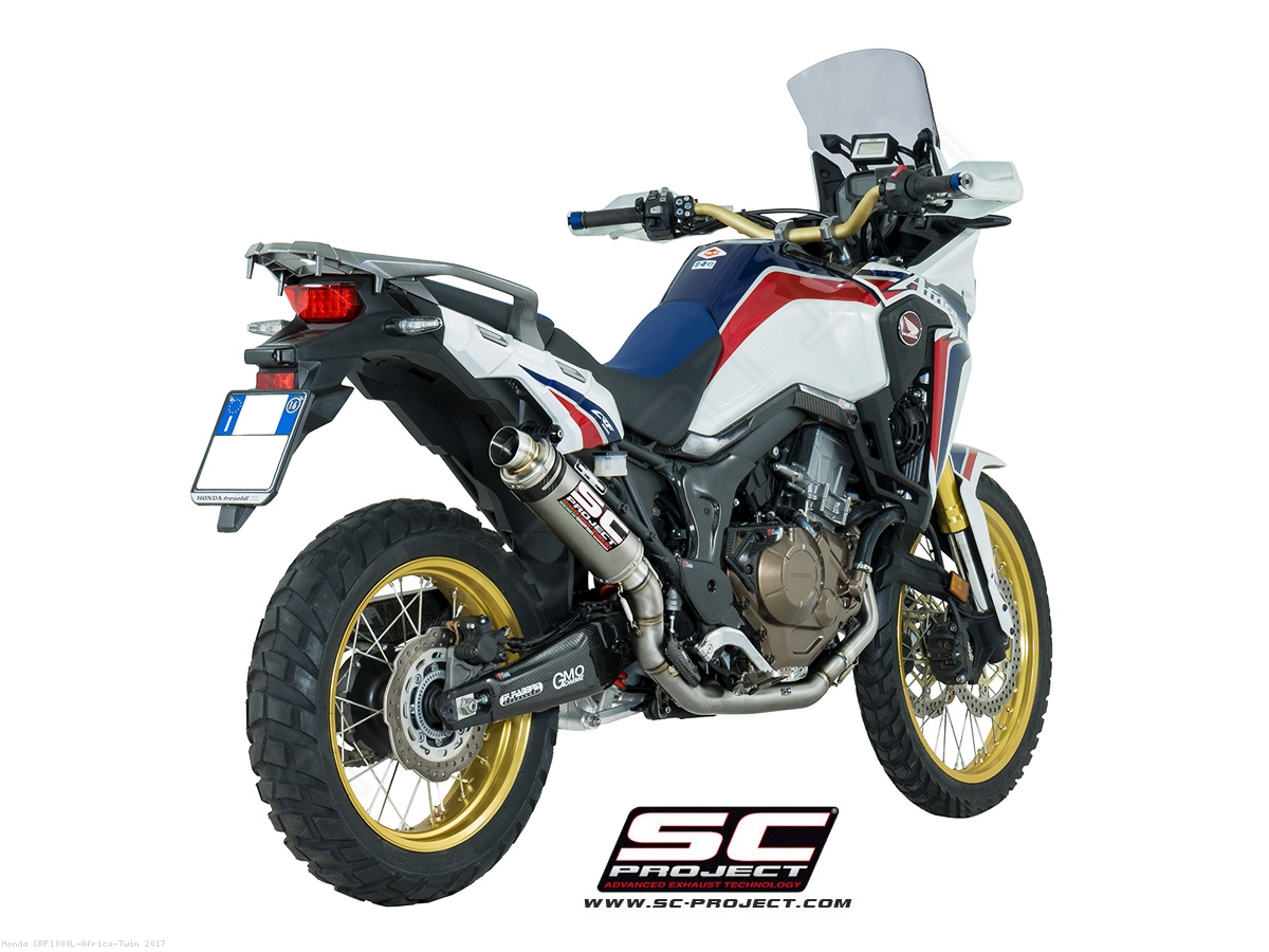 gp65 exhaust by sc project honda crf1000l africa twin. Black Bedroom Furniture Sets. Home Design Ideas