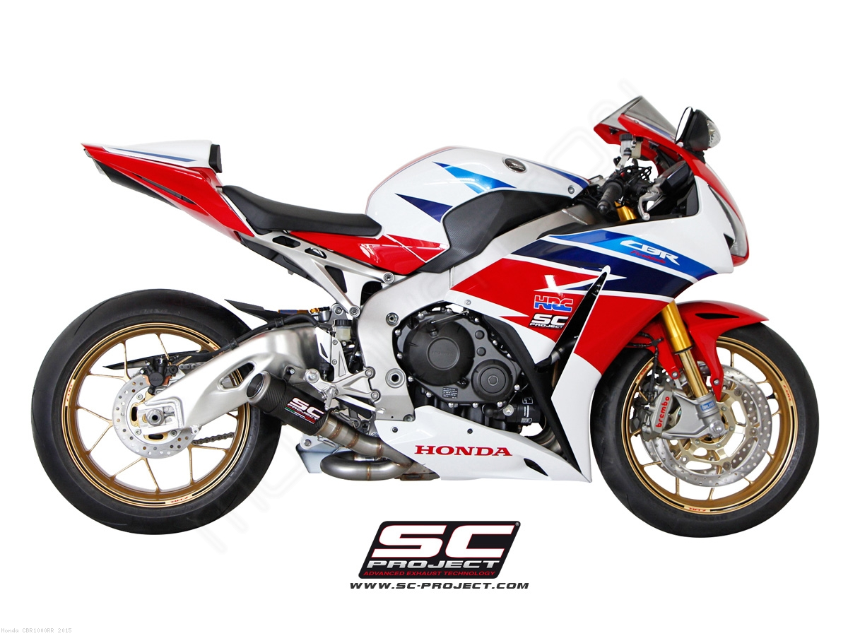 Cr t low mount exhaust by sc project honda cbr1000rr for 2015 honda cbr1000rr