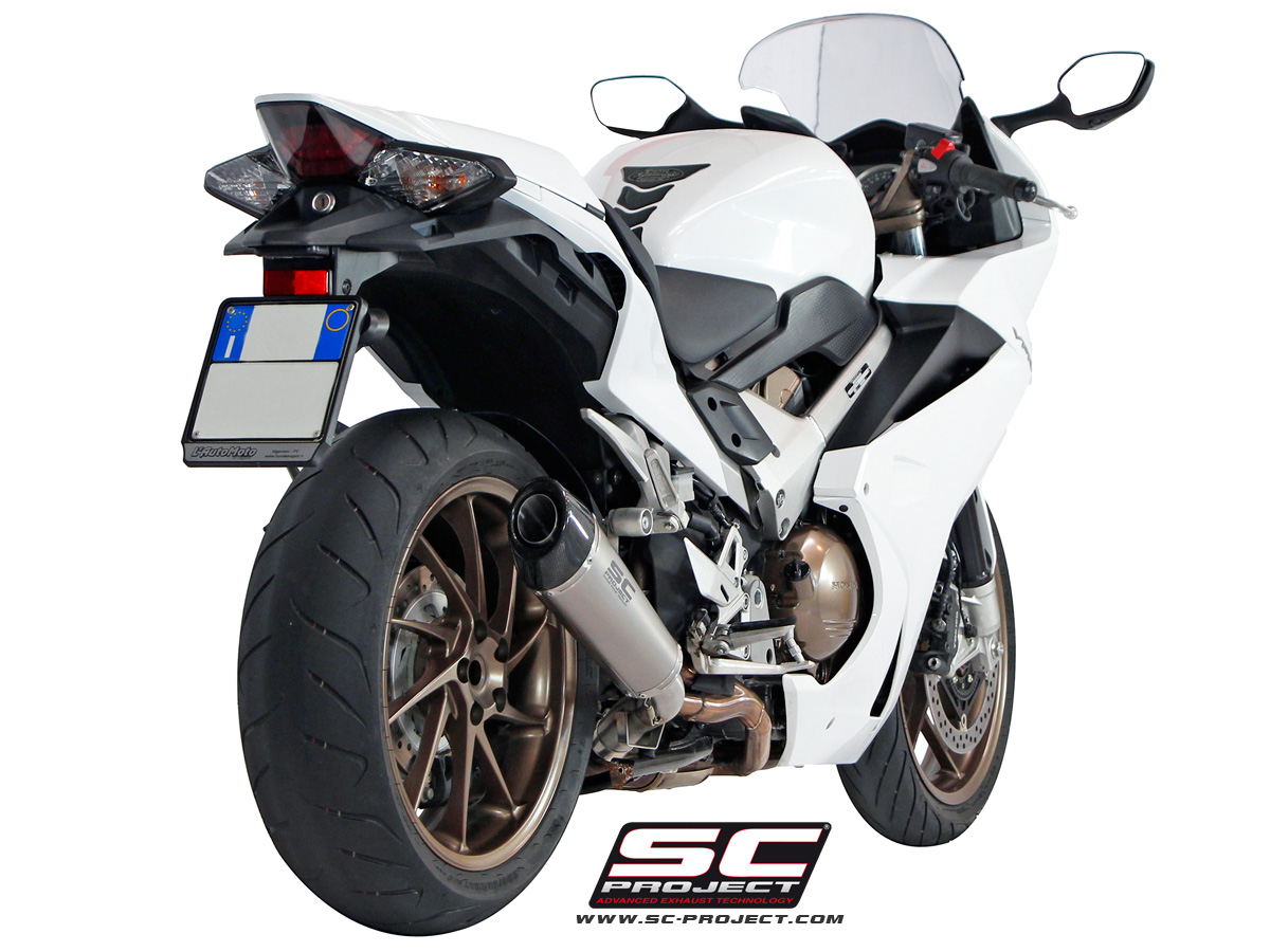 honda vfr 800 f conic exhaust by sc project. Black Bedroom Furniture Sets. Home Design Ideas