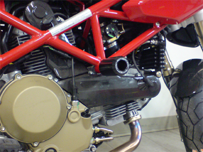 Ducati Monster S4R / S4RS Frame Sliders by Motovation Accessories